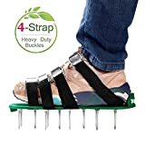 RVZHI Lawn Aerator Shoes with 4 Straps and Heavy Duty Metal Buckles - Spiked Sandals Shoes Garden Tool