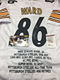 Hines Ward Autographed Signed Pittsburgh Steelers White Jersey Custom Embroidered STATS JSA Witnessed COA & Hologram