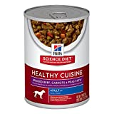 Hill's Science Diet Adult 7+ Healthy Cuisine Braised Beef Carrots & Peas Stew Canned Dog Food, 12.5 oz, 12-pack