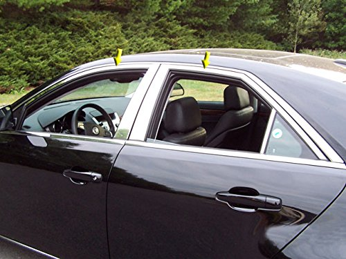 QAA FITS CTS 2008-2013 CADILLAC (4 Pc: Stainless Steel Window Trim Package NO pillar trim, 4-door) WP48252 ()