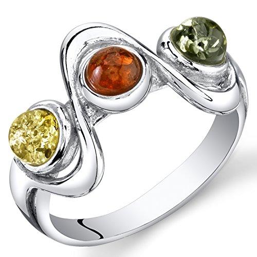 Baltic Amber Ring - 5