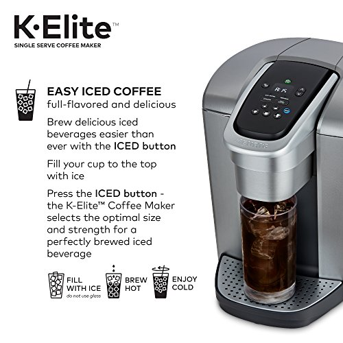 Amazon.com  K-Elite Single Serve Coffee Maker - Brushed Silver  Kitchen    Dining cb90a2f5d