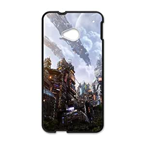 Futuristic City From Below Fantasy 1 HTC One M7 Cell Phone Case Black Gift pjz003_3316560