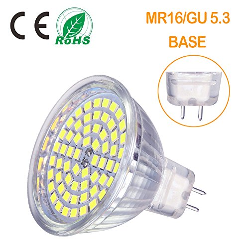OTTOSEA MR16 LED Bulbs, GU5.3 LED Spotlight Bulbs,5W (50 Watt Equivalent), 12V ACDC, Daylight White 6000K, 120 Degree Beam Angle for Landscape,Recessed,Track Lighting, Non Dimmable, Pack of 6