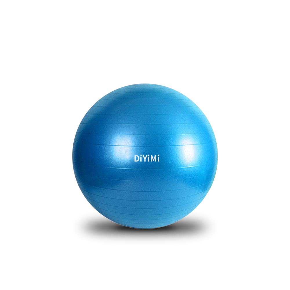 DiYiMi Pro Series Exercise and Stability Ball with 75 cm Diameter, Professional Slow Deflate & Burst Resistant Fitness Ball for Improved Posture, Balance, Yoga, Pilates, Core Stability, Blue by DiYiMi