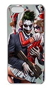 Joker and Harley Quinn Polycarbonate Plastic Hard Case for iPhone 5S and iPhone 5 Transparent by mcsharks