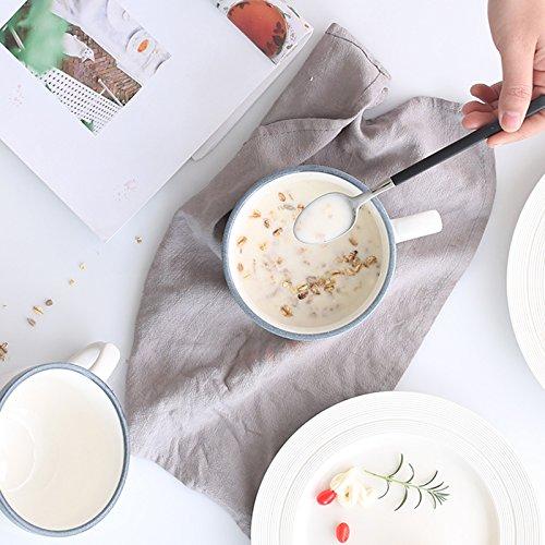 WJIANLL Cerámica taza de avena, creativos, taza de café taza resistente al calor, copa de leche, agua grande taza de desayuno, copa, Copa de mango, ...