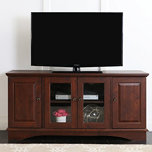 Walker Edison 52'' Wood Storage TV Stand Console, Brown by Walker Edison Furniture Company