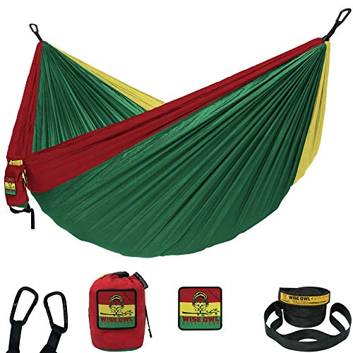 Wise Owl Outfitters Hammock Camping Double & Single with Tree Straps - USA Based Hammocks Brand Gear, Indoor Outdoor Backpacking Survival & Travel, Portable SO OL