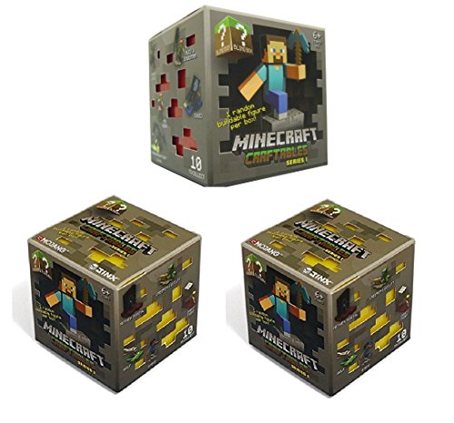 Official Minecraft Craftables Series 1 Figure 3-Pack Set Blind Pack 3 Random Styles