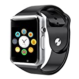 PLYSIN Smart Watch Bluetooth Smartwatch with Camera Music Player for IOS iPhone, Android Samsung HTC Sony LG Huawei Smartphones (Black)