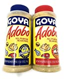 GOYA BULK ADOBO SEASONING 28oz Each includes 1 With Pepper and 1 Without Pepper (BAY Area Market Place Shopping Tote Bag and Finger Bowls Moisture Wipes included)