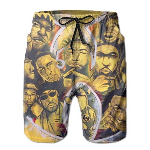 Men's Swim Trunks Wu-Tang-Clan Quick Dry Board Shorts Bathing Suits Swimwear Volley Beach Trunks ()