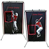Cimarron Sports Training Aids 2-Sport Catcher Vinyl Backstop with Frame