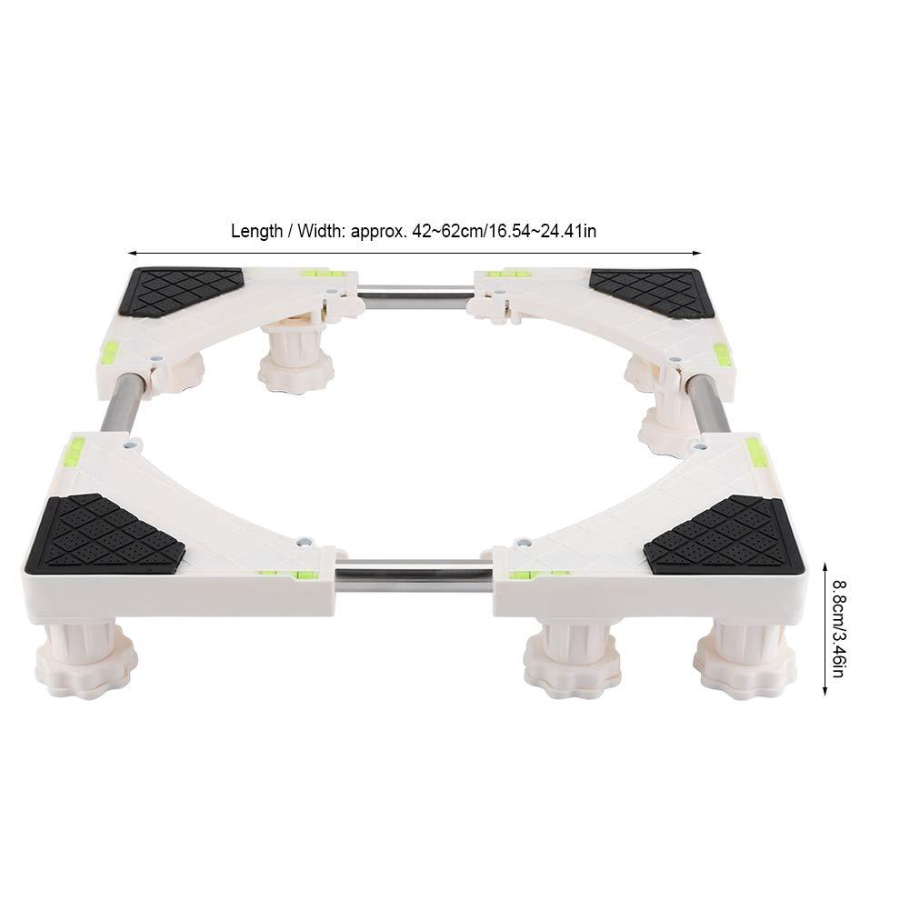 FTVOGUE Base Resistente de la Base de la Lavadora Ajustable de 4//8 pies Soporte del refrigerador Soporte del Soporte Base de la Nevera Base m/óvil 01