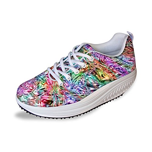 Cool Sneaker Bigcardesigns Toning Fitness Shoes New High Sport Women's Platform Walking danxPUqw