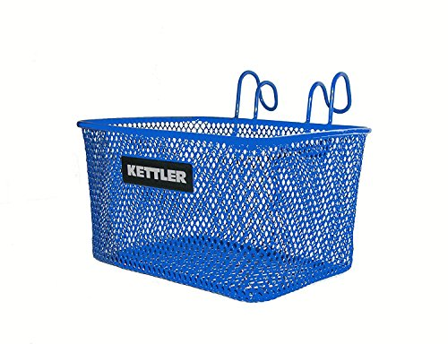 Kettler Handlebar Bike Basket Accessory, Front Mounted Handlebar Wire Storage Basket, Fits All Kettler Tricycles, Blue