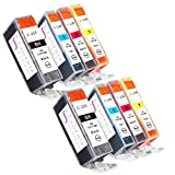 Sophia Global Compatible Ink Cartridge Replacement Set for Canon PGI-225 CLI-226 (Pack of 8: 2 PGI-225 Large Black, 2 CLI-226 Cyan, 2 Magenta, 2 Yellow)