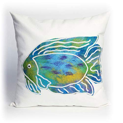 Liora Manne Visions II Batik Fish Indoor/Outdoor Pillow, 20