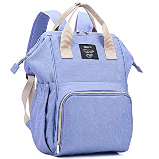 Backpack Diaper Bag for Baby,OSOCE Multi-function Mom Nappy Maternity Back Packs,Water Resistant (M3-Purple)