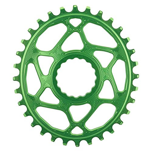 Absolute Black Race Face Oval Cinch Direct Mount Traction Chainring Green, (Brake Ring)