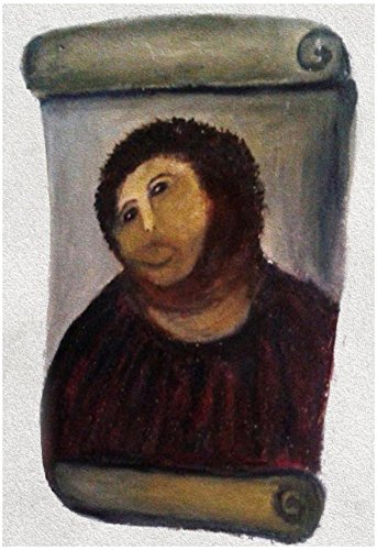 Ecce Homo - Ecce Homo Botched Restoration Poster 13 x 19in with Poster Hanger