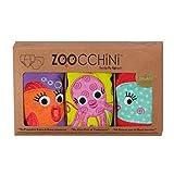 Zoocchini Girls 3 Piece Organic Training Pant Set-Ocean Friends (3T-4T), Multi