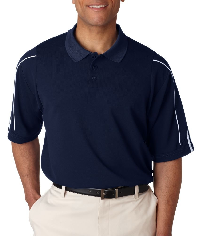 adidas Golf Mens Climalite 3-Stripes Cuff Polo (A76) -Collegiate -S