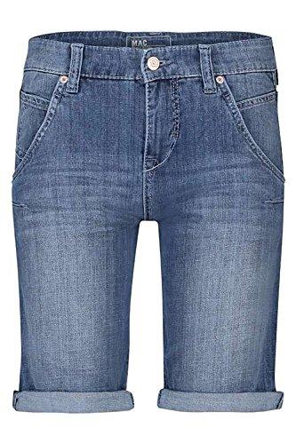 MAC Laxy Twisted Short JEANS Damen Shorts Kurze Hose jeansblau 0336 (W42/L09)