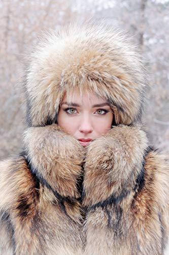 75f95c64c42b4 Image Unavailable. Image not available for. Color  Woman s Real Raccoon Fur  Hat ...