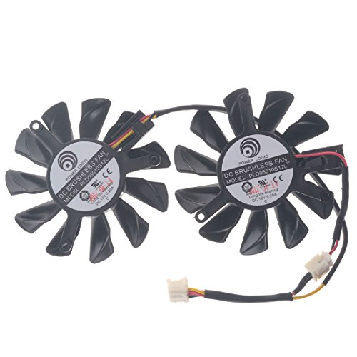 Allpartz PLD06010S12L 55mm DC 12V 0.2A 40mm 4Pin Graphics Video Card Cooling Dual Fan by Allpartz (Image #1)