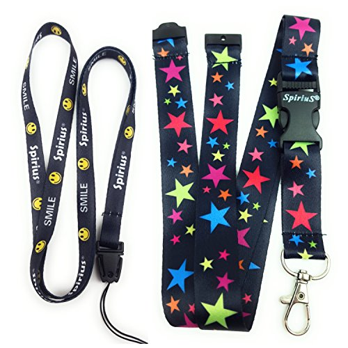 Spirius FLOWERS IN BLACK breakaway Lanyard neck strap for id badge holder phone