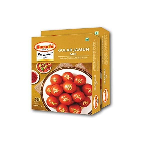Suruchi Premium Gulab Jamun Mix (200 Grams) Pack of 2