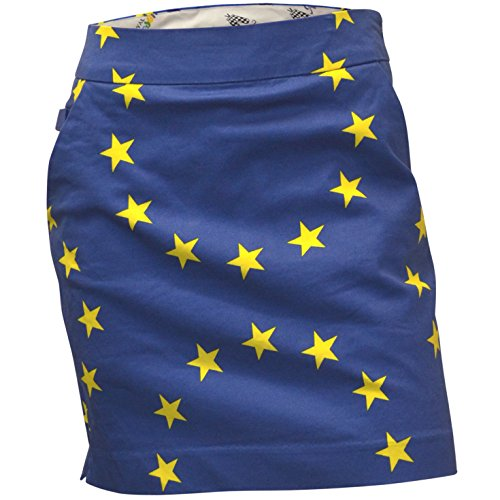 (Royal & Awesome Women's Womens Golf Skort Skirt, Eurostar, US 4/UK 8)