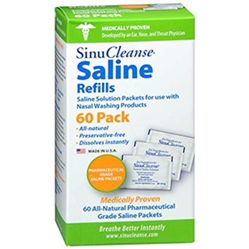 (SinuCleanse Saline Refills -- 60 Packets by SinuCleanse)