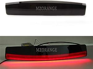 MZORANGE 3rd Third High Mount Stop Brake Light For Land Rover Range Rover L322 2002 2003 2004 2005 2006 2007 2008 2009 2010 2011 2012 Black Lens