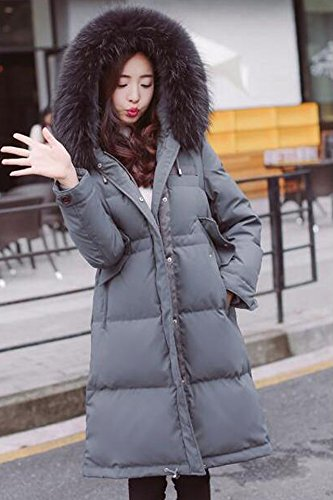 Generic Special-season Korean new long section thick winter jacket female loose waist was thin oversized fur collar coat for women girl by Generic (Image #2)