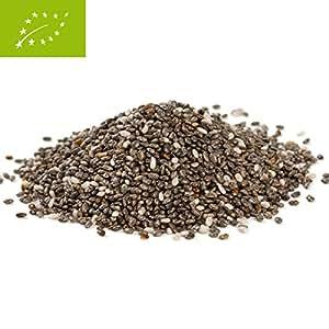 Bio Chia Samen 500g Chiasamen en una bolsa de la agricultura ecológica - Semillas de chía son nuestra gluten y libre de colesterol