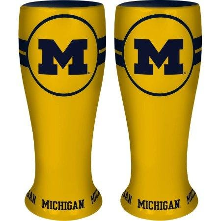 Michigan Wolverines Shot Glass - NCAA Michigan Wolverines Collectible Ceramic Pilsner, 2.5-ounce
