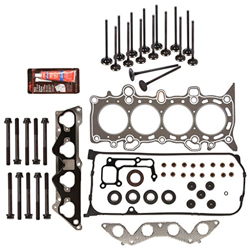 Evergreen HSHBIEV4034G Head Gasket Set Head Bolts Intake Exhaust Valves Fit 01-05 Honda Civic Vtec EX HX SI 1.7L D17A2 D17A6 (Honda Vtec Head compare prices)