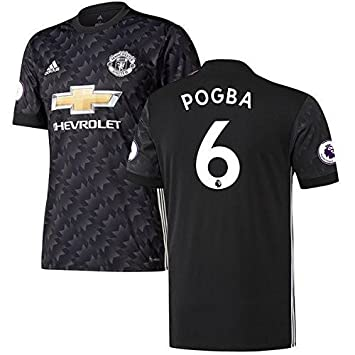 0df53a28d94 Manchester United Paul Pogba Men 2017 2018 17 18 Away Jersey English  Premier League(XLarge)