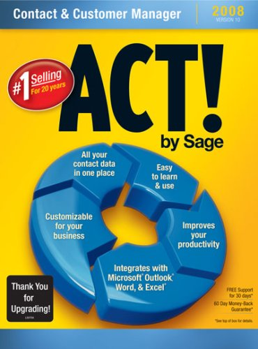 ACT! By Sage 2008 10.0 Upgrade