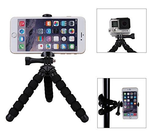 Fotopro-rm-95-Mini Stativ flexibel mit Halterung für Smartphone-Schwarz