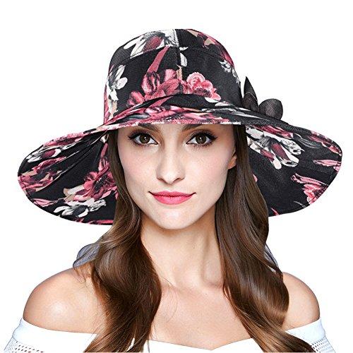 Women's Foldable Wide Brim Sun Hat Summer Outdo...