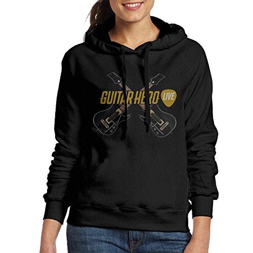 Curcy Guitar Hero Live Music Video Game Hoodie Sweater WomenRunningSize L Black ()