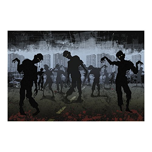 Halloween ZOMBIE backdrop wall banner prop DECORATION WALKING DEAD -