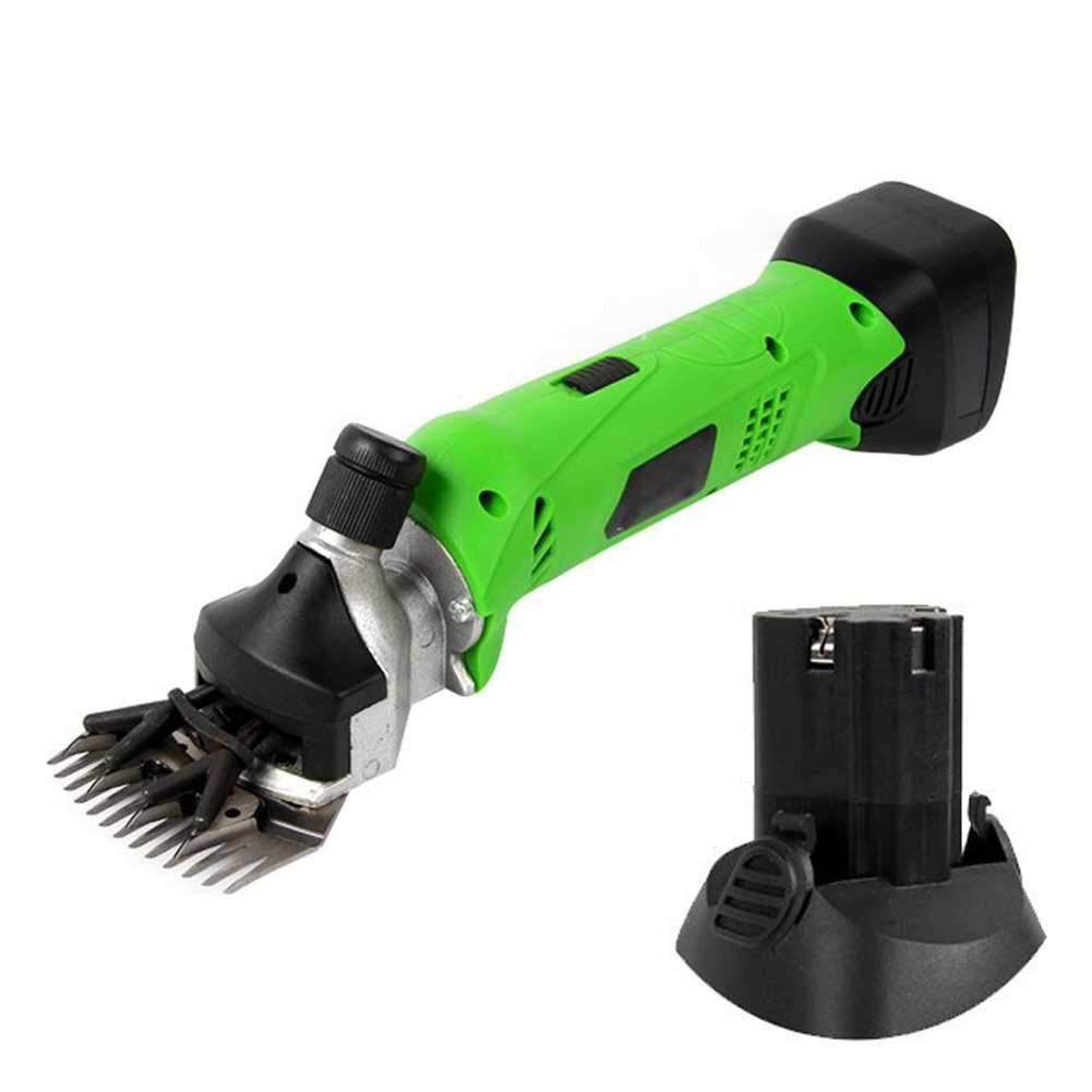 220v Cordless Clipper Pet & Livestock Sheep Shears Electric Set 13 Teeth Built In Rechargeable Lithium Battery, For Farm Goats, Alpaca, Llamas, Angora Rabbits, Camels, Horse, Pet Clipper Cutter, Green,220V