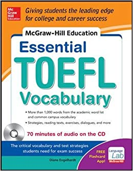Book McGraw-Hill Education Essential Vocabulary for the TOEFL® Test with Audio Disk