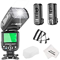 Neewer NW-562C E-TTL Flash Speedlite Kit for Canon DSLR Camera,Kit Include:(1)NW562C Flash+(1)FC-16 2.4Ghz Wireless Trigger(1 Transmitter+1 Receiver)+(1)Microfiber Cleaning Cloth