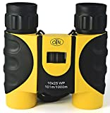 OutNowTech Ultra Compact Folding Binoculars, 10×25, Yellow and Black